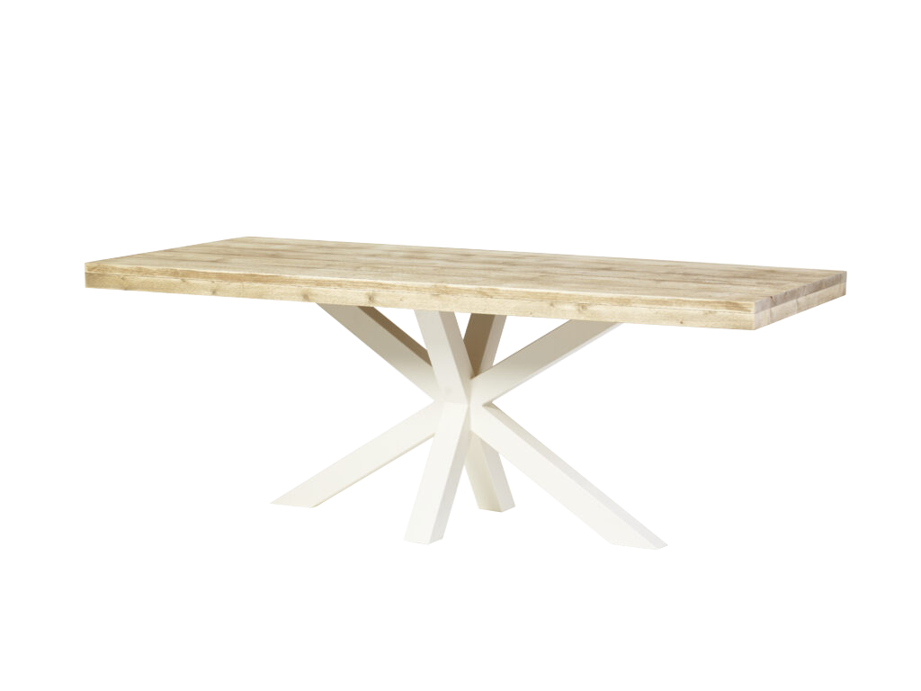Superstar steigerhouten tafel spinpoot